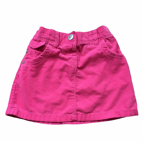 Next 2-3 years Pink Cord Skirt with Adjustable Waist