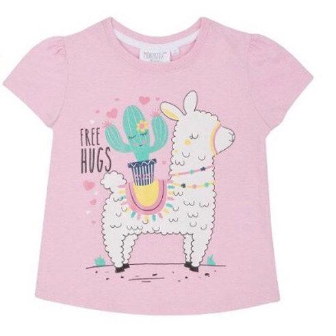 Mini Kidz 3-4 years Pink 'Free Hugs' T-Shirt - BRAND NEW