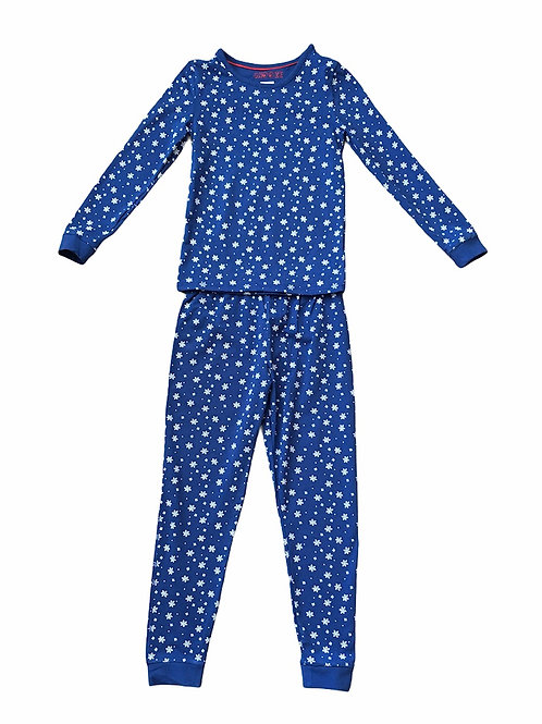Ex High Street 3-4 years Navy Snowflake Christmas Pyjamas - BRAND NEW