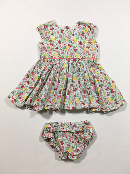 Next 3-6 months Fruit and Floral Dress with Nappy Cover