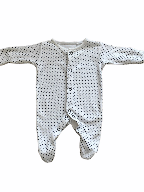 Next First Size White Sleepsuit with Navy Stars