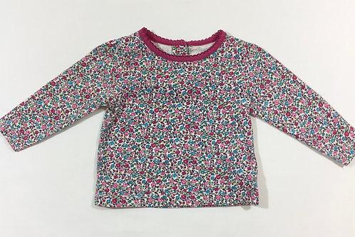 JoJo Maman Bebe 6-12 months Floral Long Sleeve Top