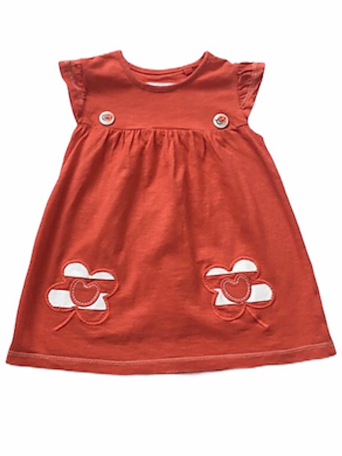 Next 6-9 months Red Ladybird and Flower Tunic Top