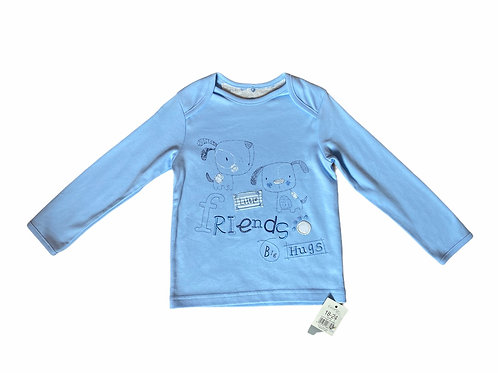 George 18-24 months Baby Blue Long Sleeve Dog Top