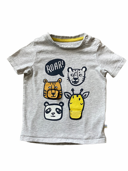 F&F 12-18 months Grey Animal T-Shirt