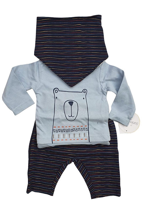 Sunny & Sal 18 months(25-28lbs) Long Sleeve Bodysuit, Trousers & Bib - BRAND NEW