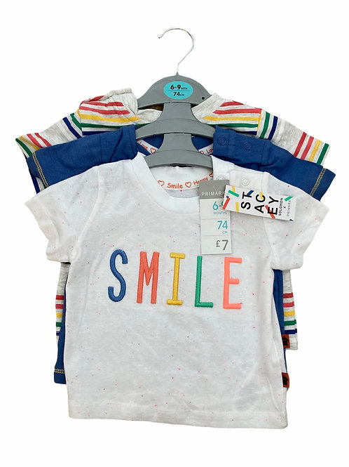 Stacey Solomon for Primark 6-9 months 3 x T-shirts - BRAND NEW
