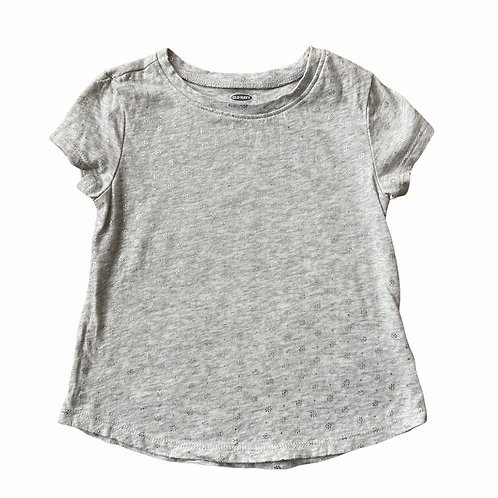 Old Navy 2 years Grey and Silver Snowflake T-Shirt