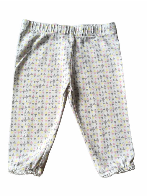 F&F 3-6 months Triangle Patterned Leggings