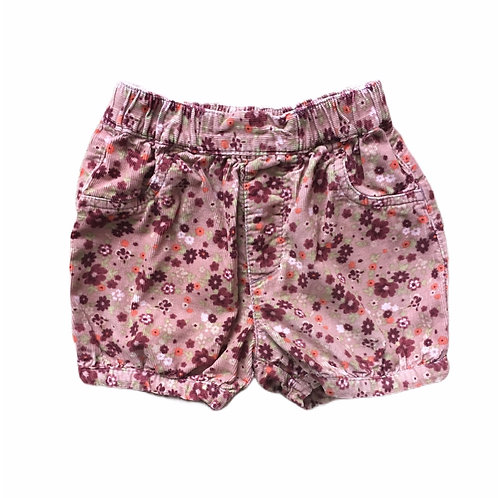 George 12-18 months Cord Floral Shorts