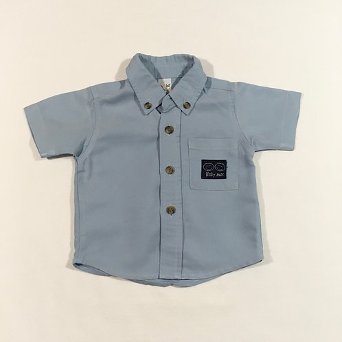 Baby Mac 3-6 months Blue Short Sleeve Shirt