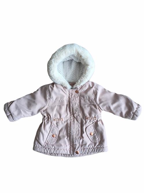 George 3-6 months Blush Pink Hooded Parka Coat (slight tarnish to top popper)
