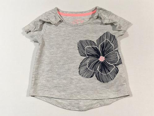 F&F 6-9 months Grey Floral T-shirt