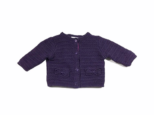Boots Mini Club Newborn Purple Cardigan