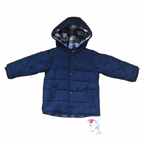 George 9-12 months Navy Padded Coat - BRAND NEW
