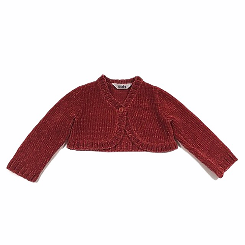 M&Co. 0-3 months Red Velour Cardigan