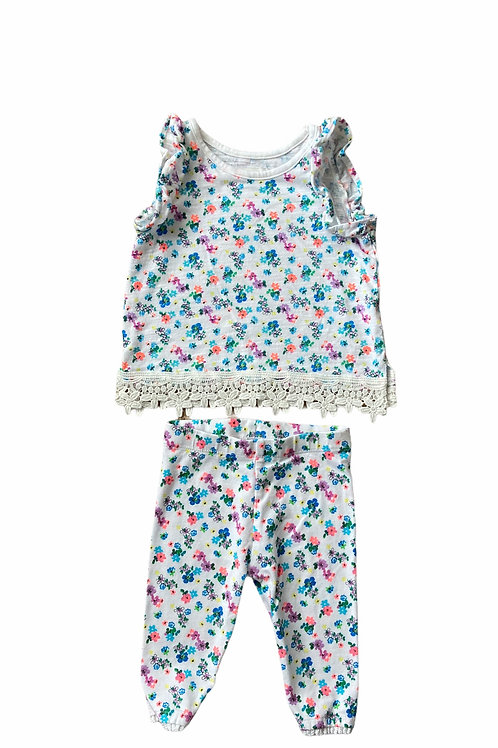 Next 3-6 months Floral Top and Leggings Set