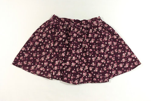 Age 8 Purple Cord Floral Skirt