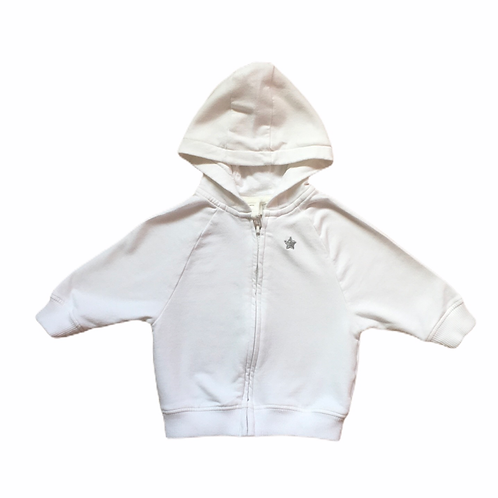 Next 3-6 months White Star Hoodie (Small Mark inside hood)