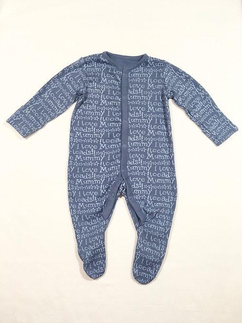 Boots Mini Club 0-3 months 'I love Mummy' Sleepsuit
