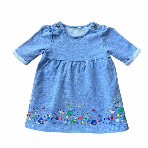 TU 3-6 months Blue Mouse Dress