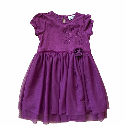 Next 2-3 years Purple Butterfly Dress (Tiny hole - see second photo)