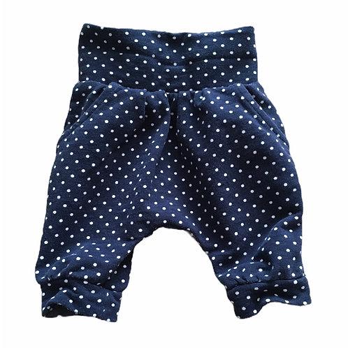 Nutmeg Newborn Navy Polka Dot Trousers