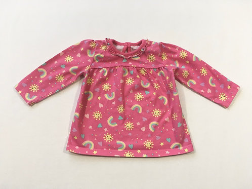 George 6-9 months Rainbow Long Sleeve Top