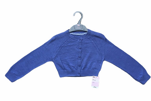 Mothercare 4 years Blue Cropped Cardigan, 100% Cotton – BRAND NEW