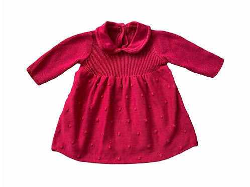 George 0-3 months Red Knitted Dress