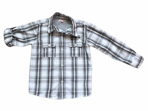Bluezoo 5 years Long Sleeve Black and White Check Shirt