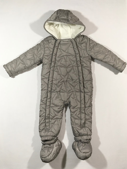 TU 9-12 months Silver Star Snowsuit with Booties