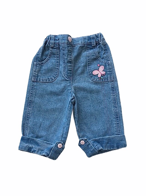 3-6 months Butterfly Jeans