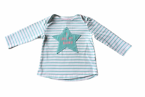 Next 3-6 months 'I Love My Daddy' Striped Long Sleeve Top
