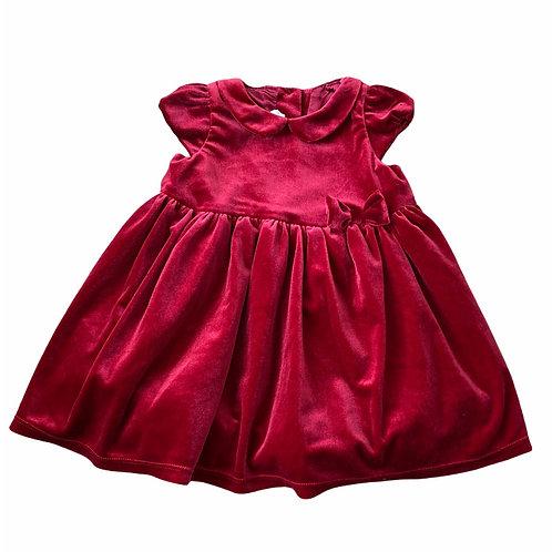 H&M 12-18 months Red Velvet Dress