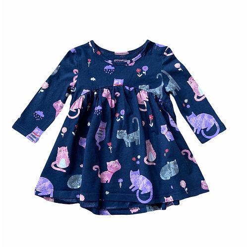 BlueZoo 3-6 months Navy Cat Dress