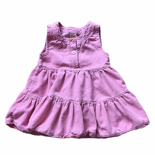 Mini Mode 0-3 months Pink Cord Dress