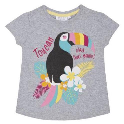 Mini Kidz 4-5 years Grey 'Toucan Play That Game' T-Shirt - BRAND NEW