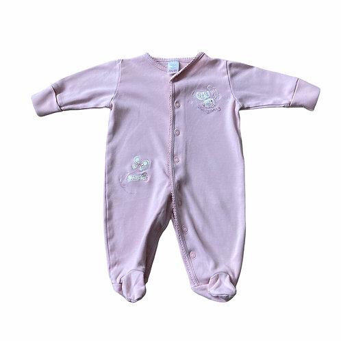 Next Newborn Pink Cat Sleepsuit