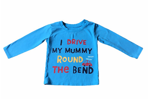 George 12-18 months 'I Drive My Mummy Round The Bend' Long Sleeve Top