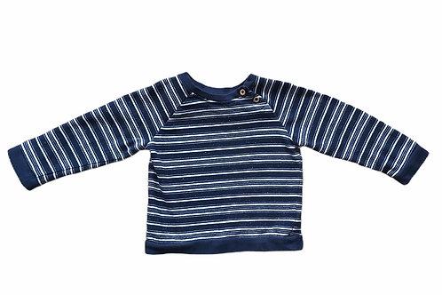 TU 12-18 months Navy and White Striped Sweatshirt