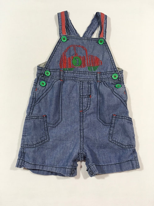Nutmeg 6-9 months Lightweight Denim Car Dungarees