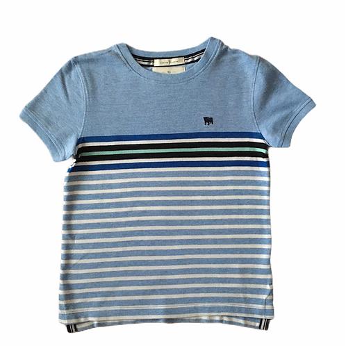 Jasper Conran 4-5 years Blue Striped Textured T-shirt - BRAND NEW