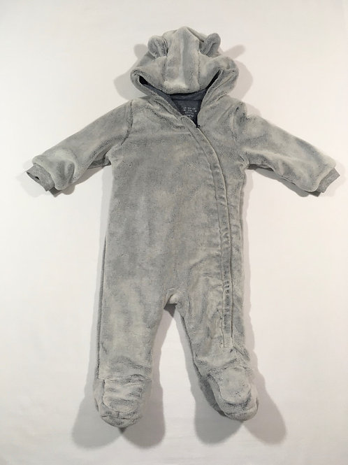 F&F 6-9 months Grey Teddy Bear Pramsuit