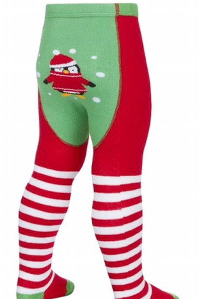 18-24 months Penguin in Jumper Christmas Tights - BRAND NEW