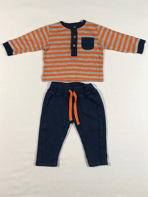 John Lewis Newborn 2 Piece Set - Long Sleeve Top and Joggers