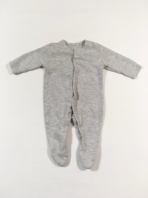 Lily & Dan Newborn Grey Sleepsuit