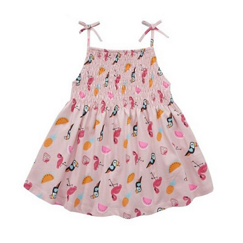 Mini Kidz 7-8 years Pink Tropical Dress - BRAND NEW