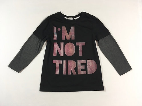 George 3-4 years 'I'm Not Tired' Long Sleeve Top