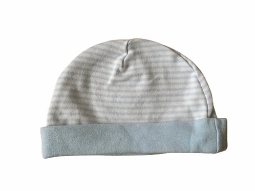 0-3 months Blue and White Striped Hat